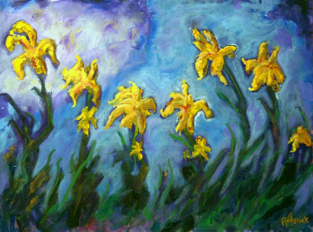 Blooms at Rogers Gardens.Oil on Canvas,12 x 16. $950.00
