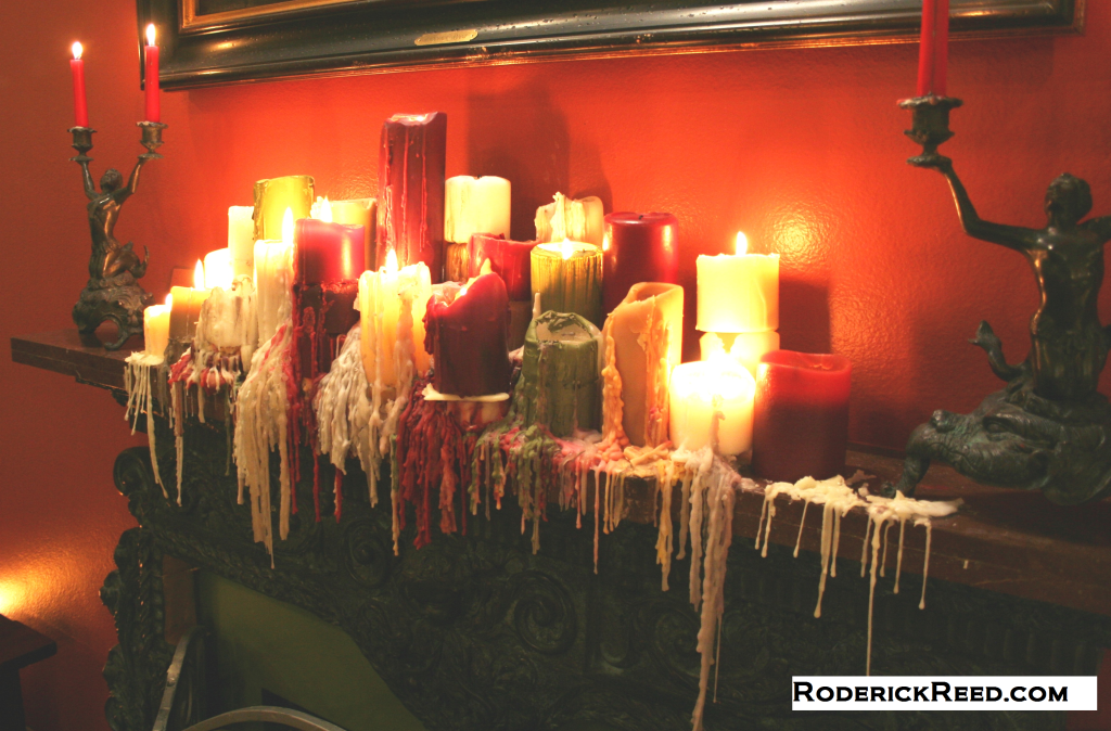 Using Melted Candles as a decorative element.