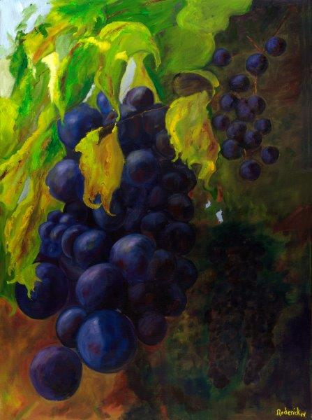 Grapes ! 30 x 40 Framed, Very Limited Edition Giclee. #1, $750.00