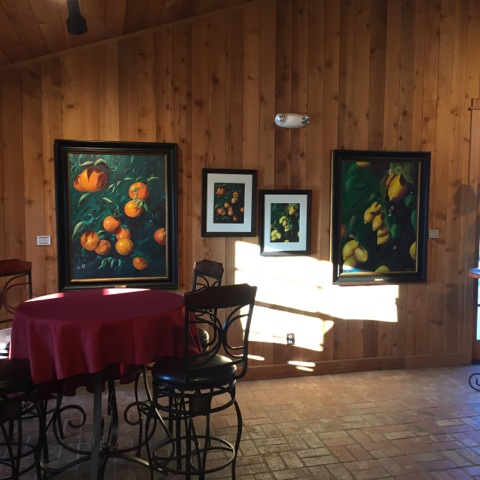 Four Lantern Winery in Paso Robles Calfornia, Features the art of Roderick Reed