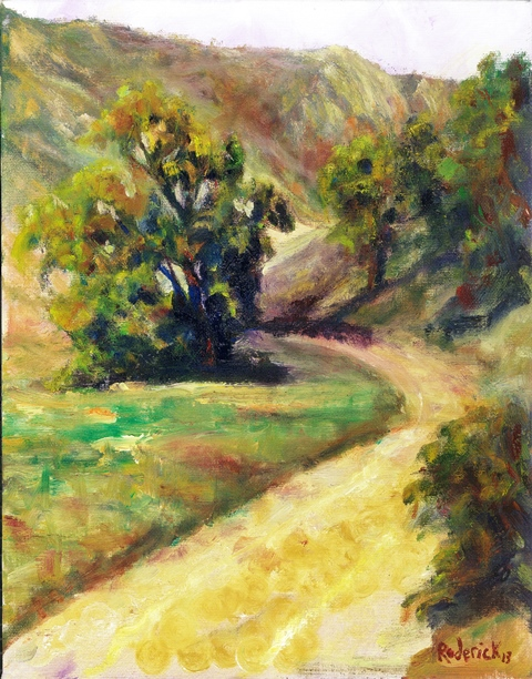 Laguna Canyon, Oil on board, 8x10, $250.00