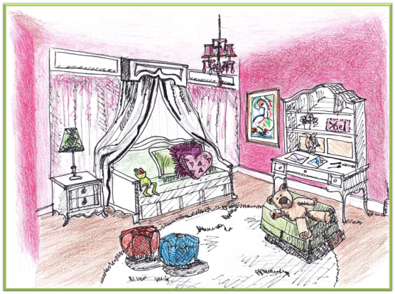 CONCEPT for bedroom design by REEDesign Interiors.
