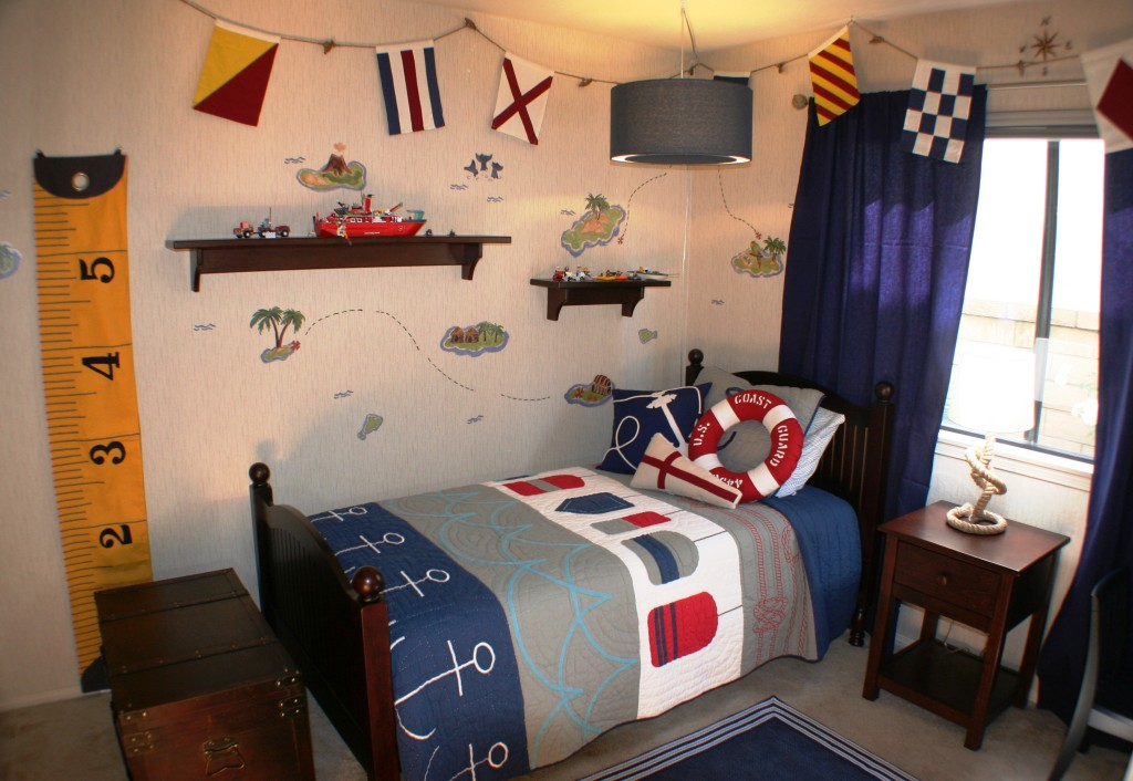 Small Projects Boys Room by Roderick Reed- Decorations from Pottery Barn Kids.REEDesign Interiors