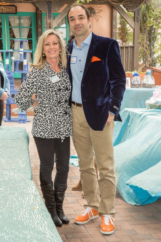 Blue Bell Foundation Laguna Beach. Annual Contributor Roderick Reed and Foundation organizer Pamela Knudsen.