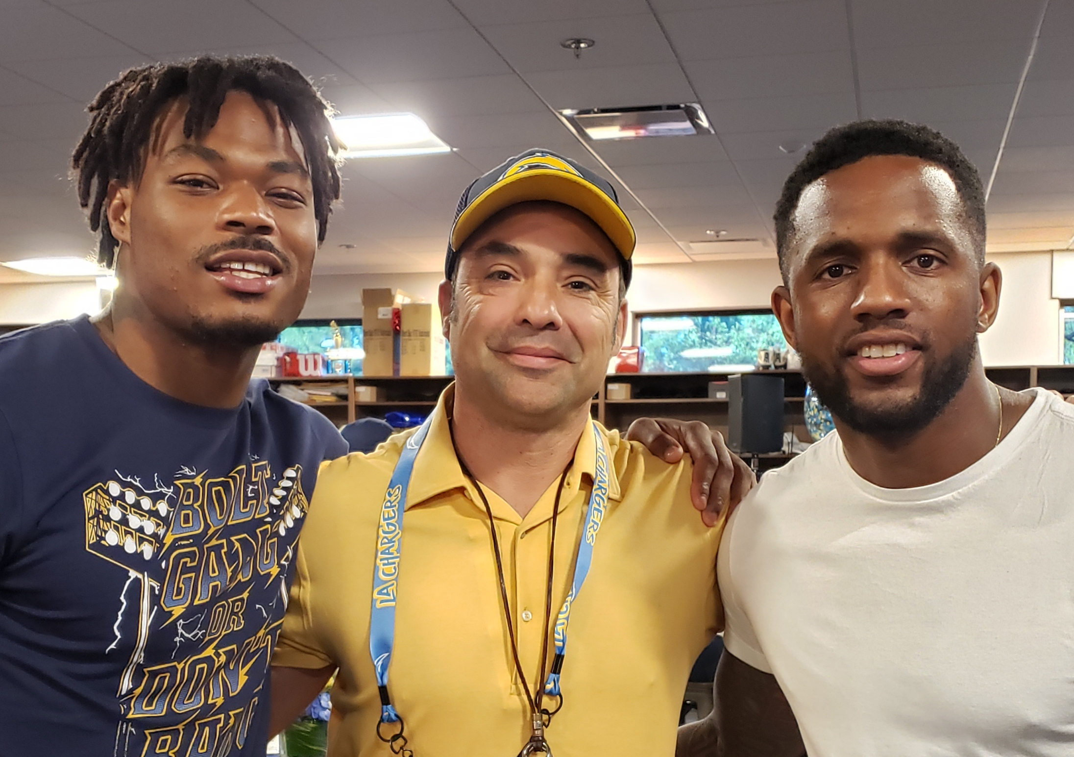 Roderick Reed with KC Hayward and Derwin James